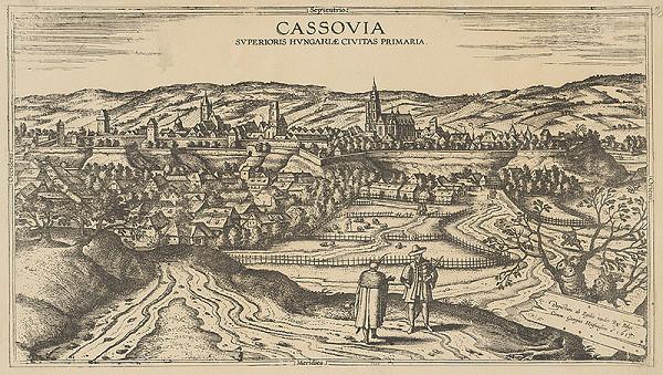 Joris Hoefnagel, Egidio van der Rye, Stredoeurópsky autor - Pohľad na Košice