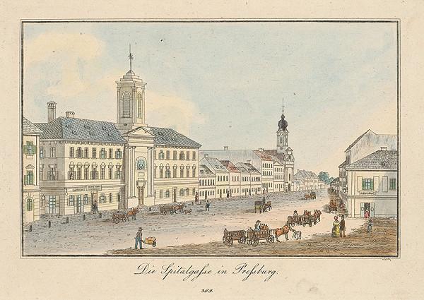 Vincenz Reim - Špitálska ulica v Bratislave
