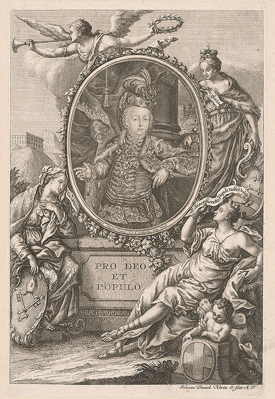 Johann Daniel Herz st. – Alegorický portrét arcivojvodu Jozefa( II.) v detskom veku