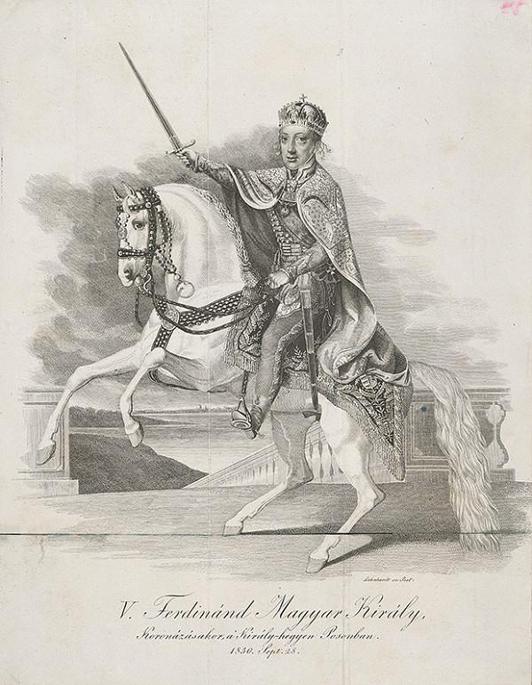 Samuel Lenhardt – Ferdinand V. na korunovačnom vŕšku v Bratislave