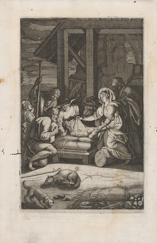 Stredoeurópsky grafik zo 17. storočia - Klaňanie pastierov