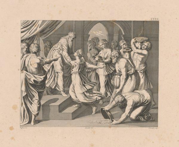 Schmidt, Raffael, Wilhelm Kandler – Kráľ Šalamún prijíma kráľovnu zo Sáby ?