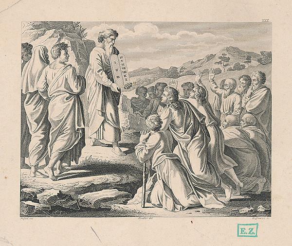 Hoffman, Raffael, Wilhelm Kandler – Mojžiš s doskami prikázaní pred svojim národom