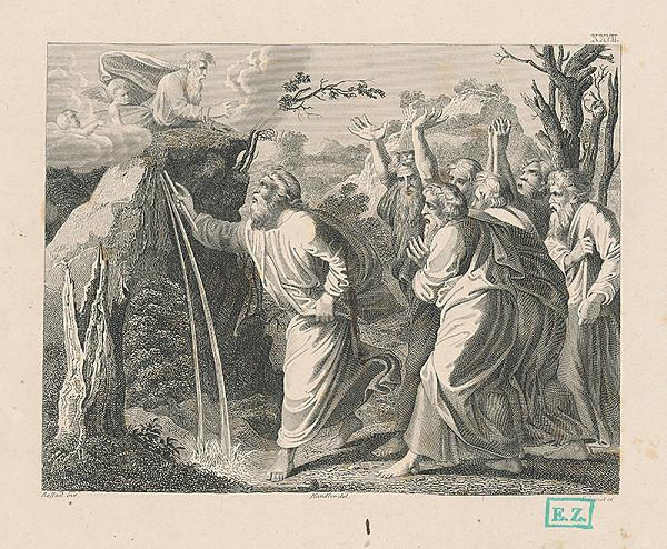 Schmidt, Raffael, Wilhelm Kandler – Mojžiš odklína prameň vody zo skaly