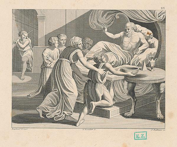 Josef Battmann, Raffael, Wilhelm Kandler - Jákob dáva svoje pžehnanie Izákovi