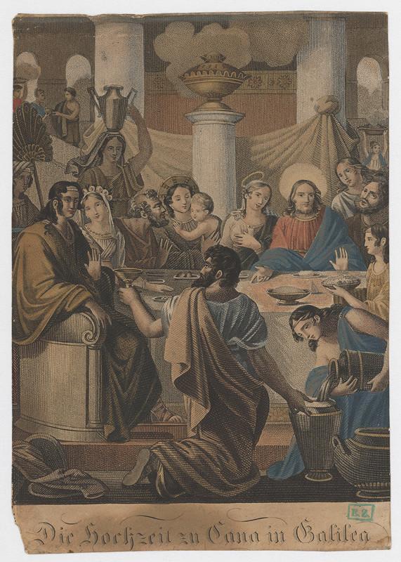 Stredoeurópsky grafik z 18. storočia – Svadba v Káne Galilejskej
