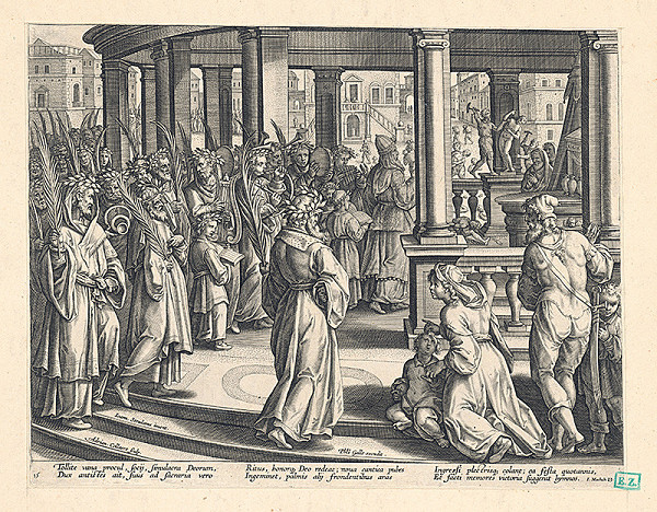 Adriaen Collaert, Jan van der Straet, Philip Galle - Vstup Krista do Jeruzalema ?