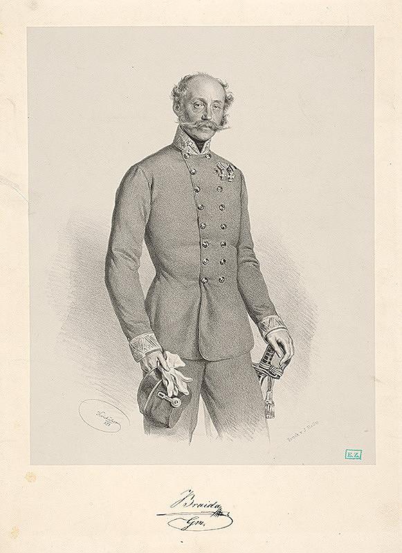 Joseph Kriehuber - Portrét generálmajora J. Braidu