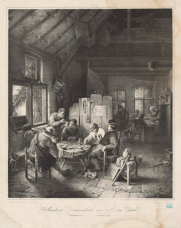 Carl Pohl, Adriaen van Ostade, Franz Seraph Hanfstaengl - Holandská sedliacka krčma