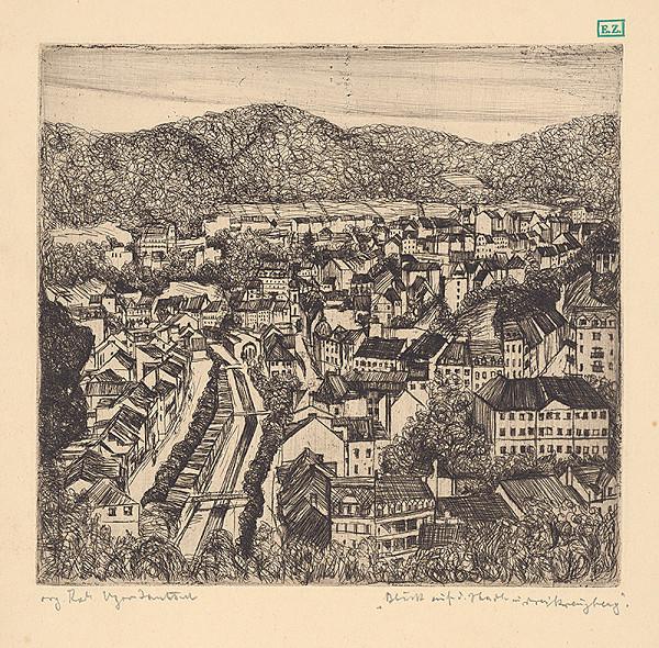 Maďarský grafik z 20. storočia - Pohľad na mesto
