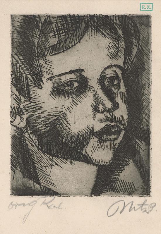 Béla Uitz - Hlava dievčatka