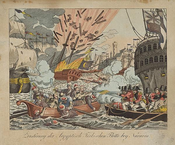 Nemecký grafik – Zničenie egyptsko-tureckej flotily pri Navarine