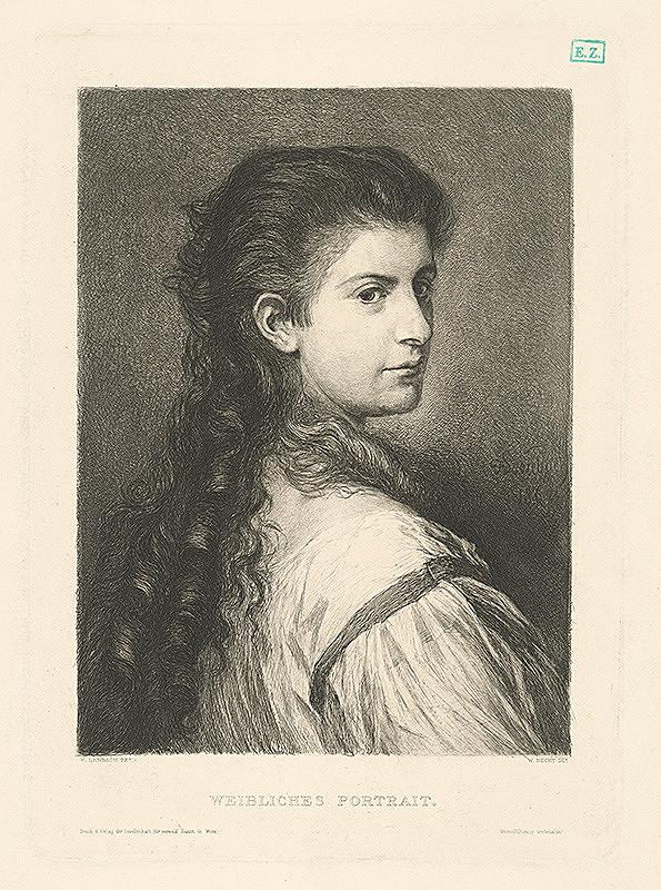 Wilhelm Hecht, Franz Seraph von Lenbach - Portrét ženy