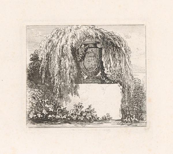 Alexander Sack – Kameninová amfora s popínavými kvetmi na podstavci