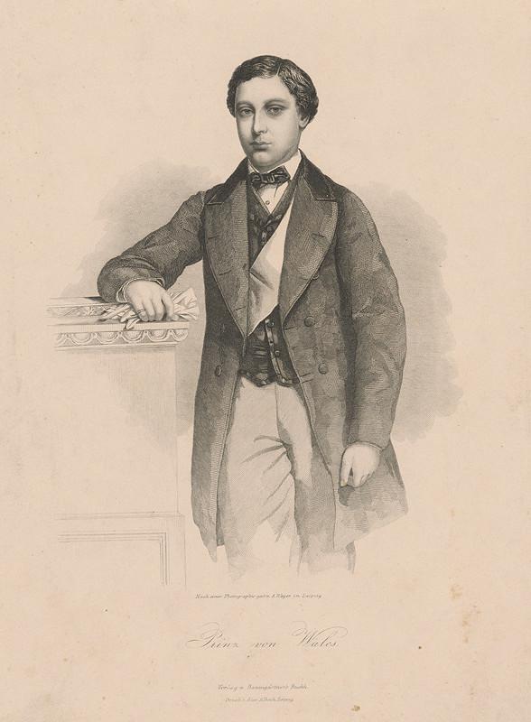August Weger, Alexander Alboth - Portrét princa z Walesu