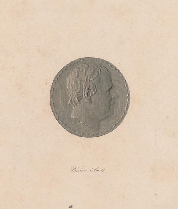 Stredoeurópsky grafik – Medailón s portrétom Waltera Scotta