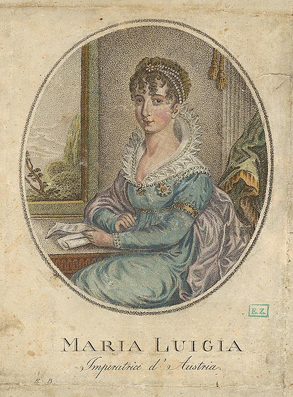 Monogramista E. B. – Portrét Márie Lujzy, cisárovnej Rakúska