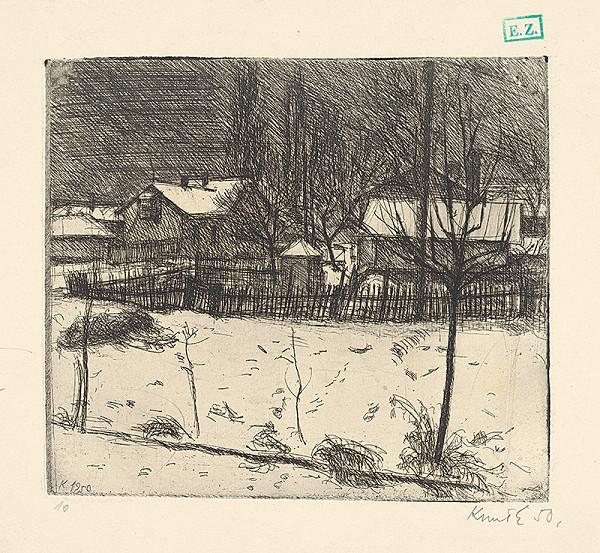 Ernö Kunt – Záhrada v zime