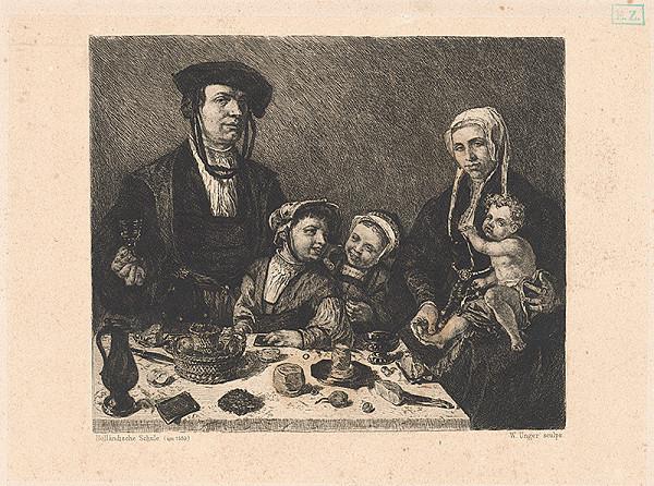 William Unger – Mešťanská rodina pri stole