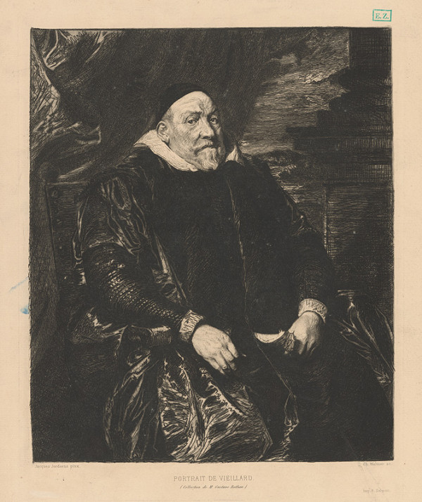 Charles Albert Waltner, Jacob Jordaens – Portrét Vieillarda