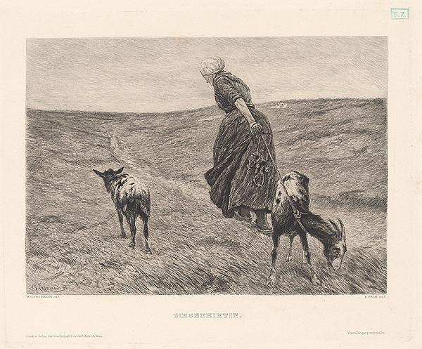 Max Liebermann, Peter Halm - Pastierka s kozou