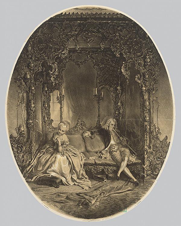 Eduard Ender – Galantná scéna v rokokovom interiéri