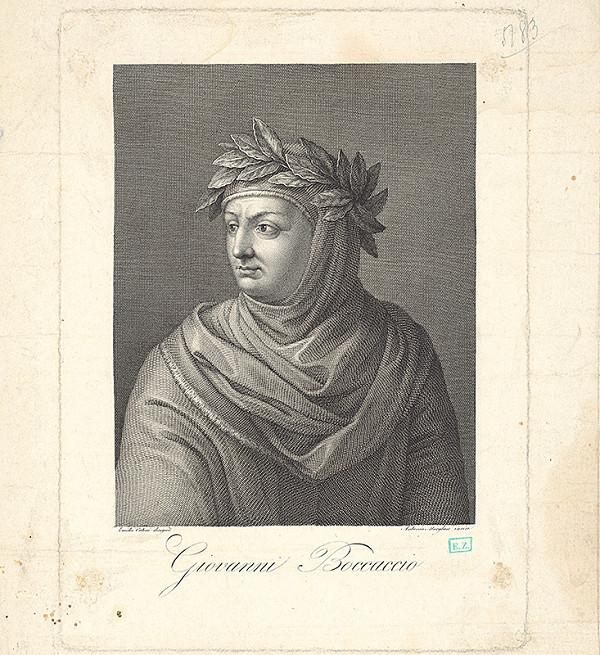 Antonio Morghen, Emidio Cateni - Portrét spisovateľa Giovanniho Boccaccia