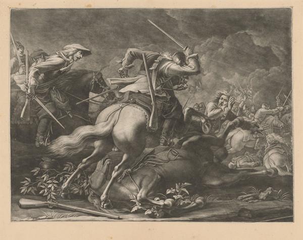 Stredoeurópsky grafik z konca 19. storočia – Bojová scéna
