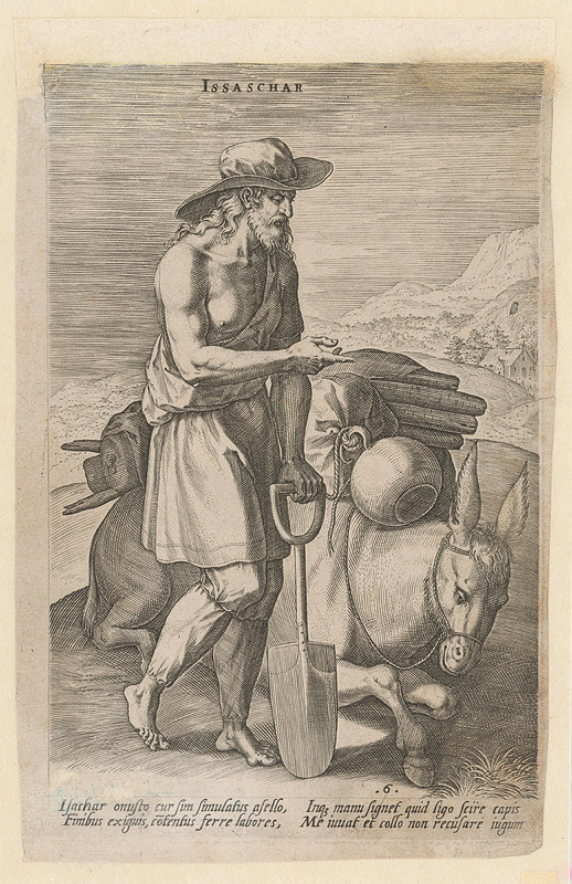 Stredoeurópsky grafik z 18. storočia – Prorok Zachariáš