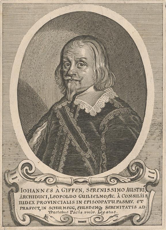 Stredoeurópsky grafik z 18. storočia - Portrét J. Giffena