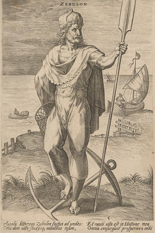 Stredoeurópsky grafik z 18. storočia - Zebulon