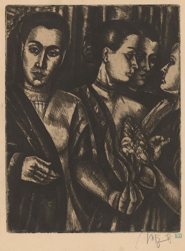 Béla Uitz – Dievčatá
