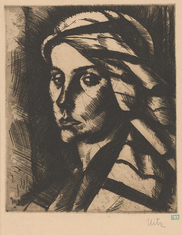 Béla Uitz - Portrét ženy