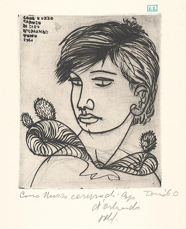 Taliansky grafik - Portrét chlapca