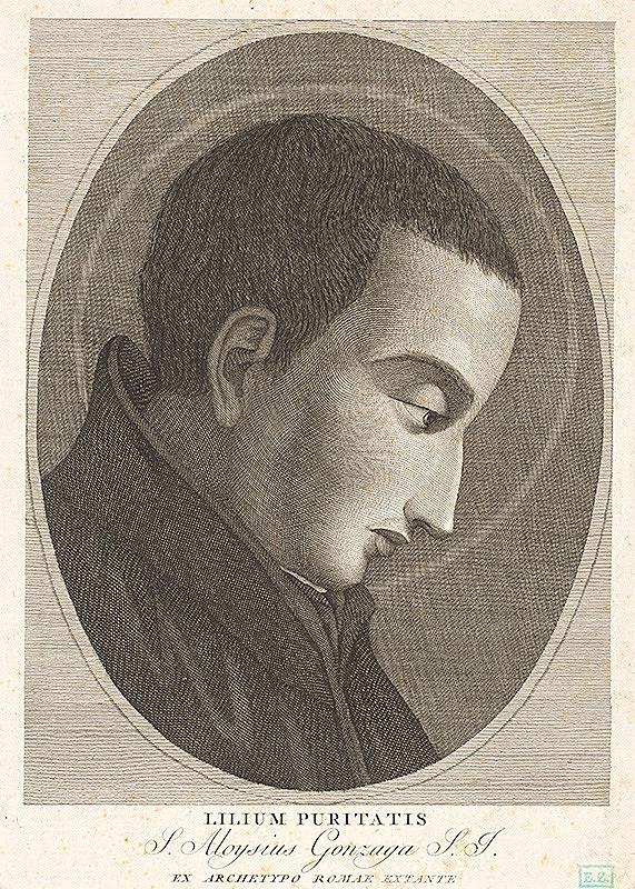 Taliansky rytec – Svätý Alojz Gonzaga