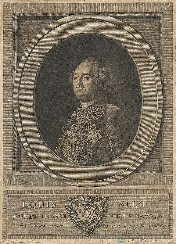 Giovanni Agostino Tamburini, Jacob Boze - Francúzsky kráľ Louis XVI.