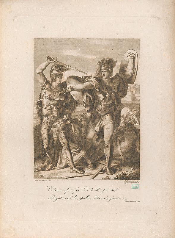 Innocente Migliavacca, Franco Sabatelli, Raphael Morghen – Rímski zápasníci s mečmi