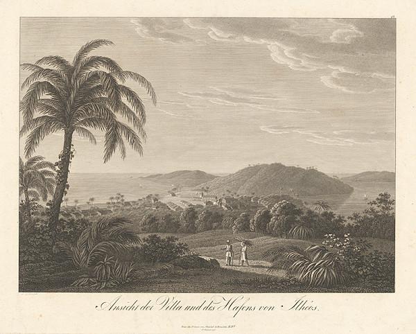 Ludwig Schnell – Pohľad na dedinu a prístav Illhéus