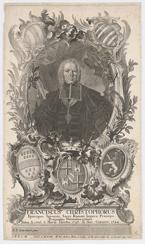 Aulicus, Gottfried Bernhard Göz, Georg Schweikard - Portrét biskupa Francisca Christophora, prepošta Weizenburského