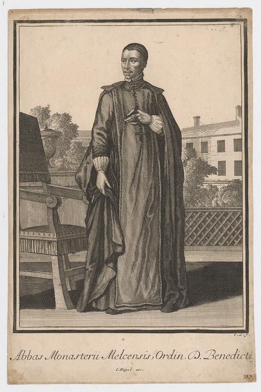 C.L. Monogramista, Christoph Weigel st. - Opát kláštora benediktínov