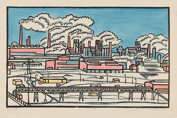 Ernest Zmeták - Továreň v zime