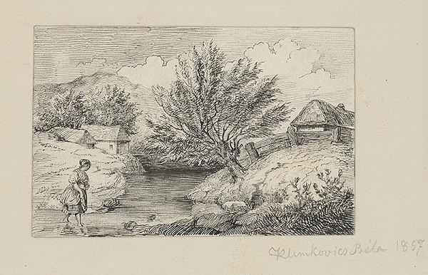 Vojtech Klimkovič – Dievča idúce cez potok
