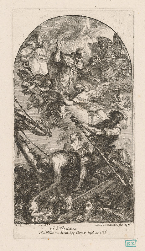 Martin Johann Schmidt - Svätý Mikuláš