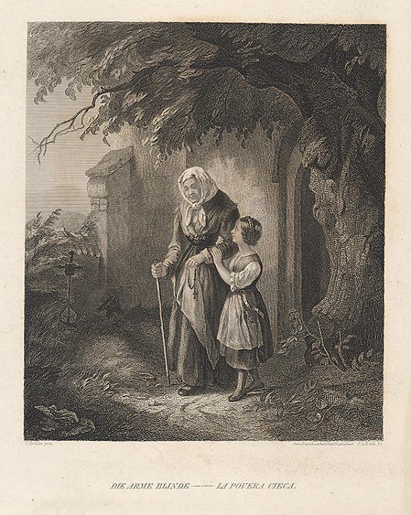 Johann Leonhard Raab, Hermann Bethke - Slepá starenka s dievčatkom