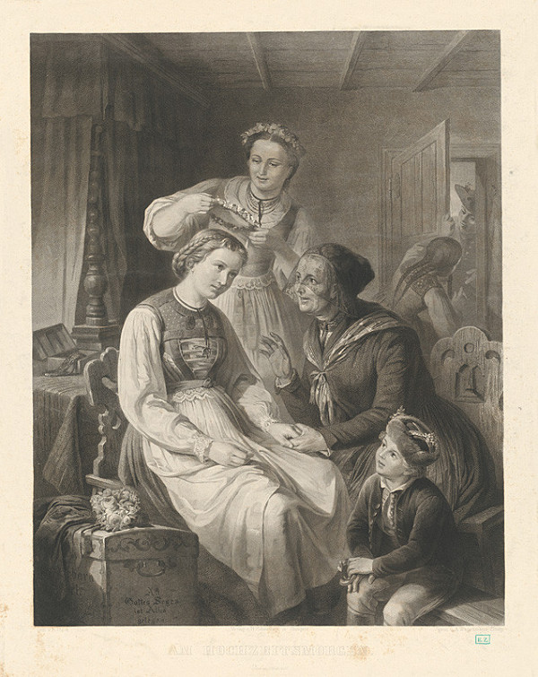 Adolf Wagenmann, R. Heck - Obliekanie nevesty
