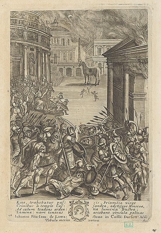 Francis Cleyn, A. Fney – Dobitie Tróje