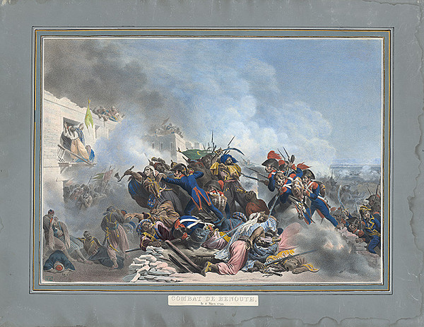Francúzsky grafik – Bojová scéna na Oriente ?