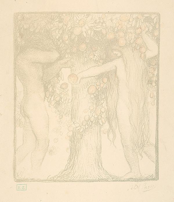 Abel Pann - Adam a Eva pod stromom poznania
