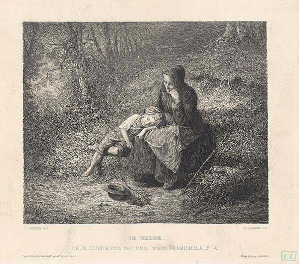 E. Forbert, Benjamin Vautier – Matka s dieťaťom v lese