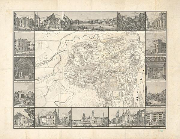 František Weis, Vasquez – Plán Hradčan a Malej strany so 16. vedutami významných budv v Prahe